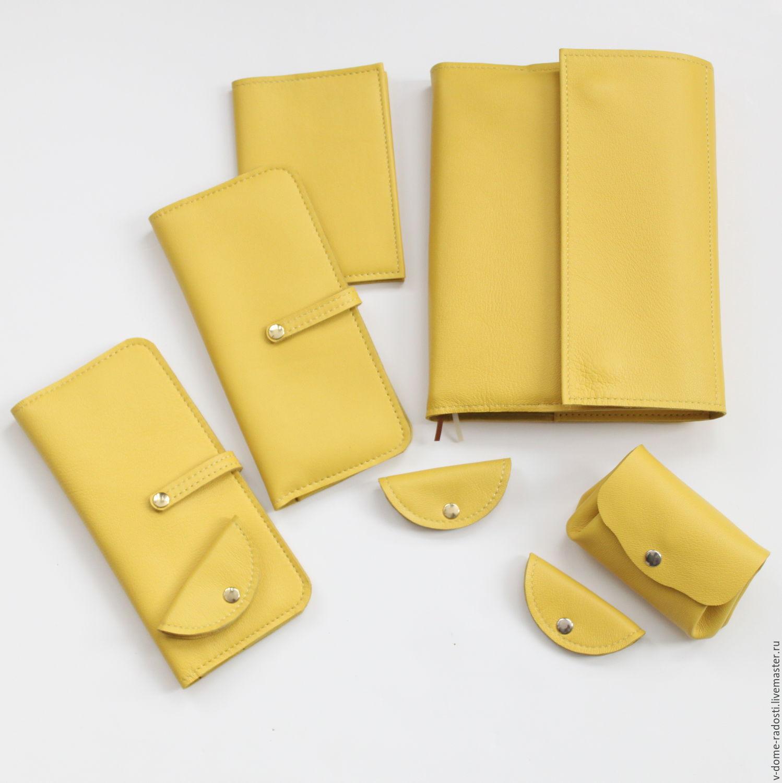 желтый ежедневник натуральная кожа