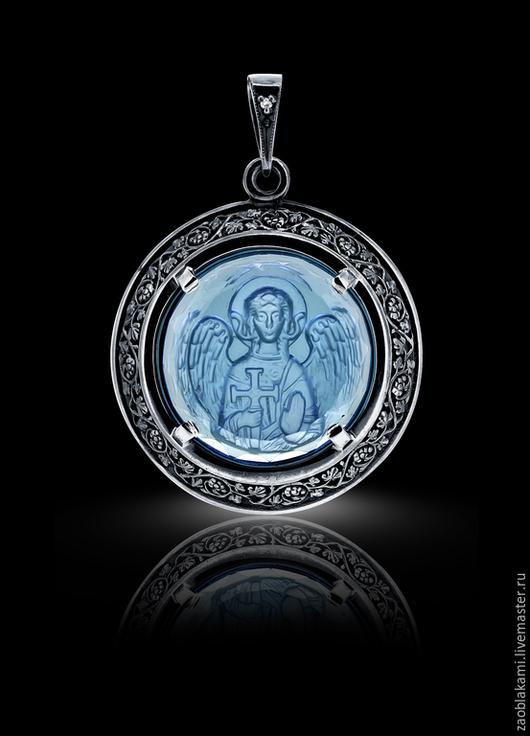 В НАЛИЧИИ Инталия  Ангел-Хранитель (голубой кварц)
