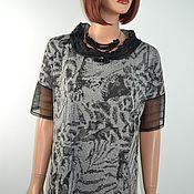 Одежда handmade. Livemaster - original item Black and gray dress loose-fitting