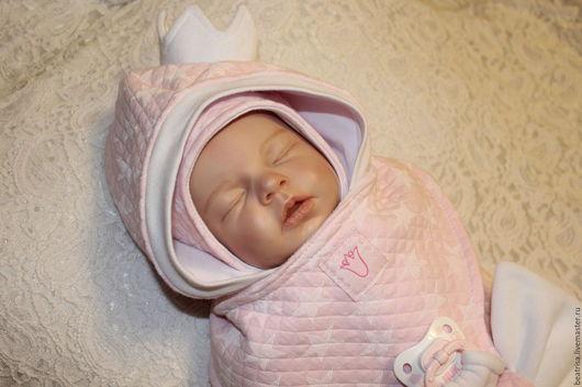 """Для новорожденных, ручной работы. Ярмарка Мастеров - ручная работа. Купить Комплектна выписку """"Звездная принцесса"""". Handmade. Розовый, капитоний"""