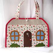 Куклы и игрушки ручной работы. Ярмарка Мастеров - ручная работа Кукольный домик - сумка. Handmade.