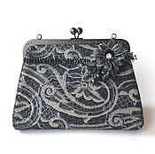 Сумки и аксессуары handmade. Livemaster - original item Leather handbag theater for prom French lace. Handmade.