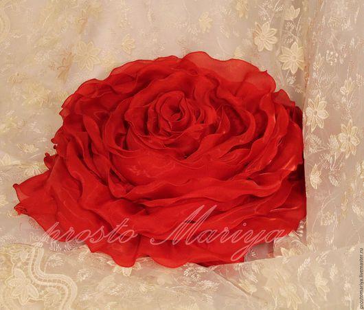 Текстиль, ковры ручной работы. Ярмарка Мастеров - ручная работа. Купить просто  Роза..... Handmade. Ярко-красный, подушка для интерьера