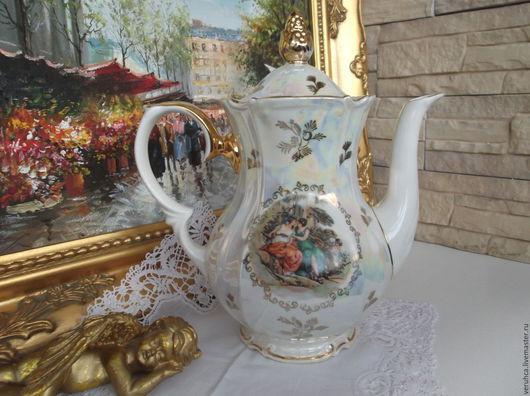 """Винтажная посуда. Ярмарка Мастеров - ручная работа. Купить Большой чайник от сервиза """"Мадонна"""" Германия  50-х г.. Handmade."""