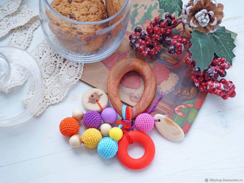 Juguetes educativos manualidades. Livemaster - hecho a mano. Comprar Gryzunok, prorezyvatel, gryzunok con silicona larga - Bagel. Handmade