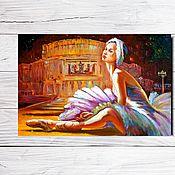 """Открытки ручной работы. Ярмарка Мастеров - ручная работа Открытка для посткроссинга """"Балерина"""". Handmade."""