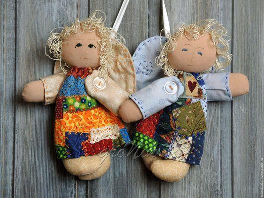 Куклы и игрушки. Текстиль.  Ангелочки. Федорова Анастасия  `Три лоскутка`