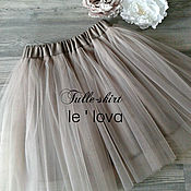 Юбка ручной работы. Ярмарка Мастеров - ручная работа Детская юбка из фатина цвет Ракушка. Handmade.