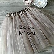Юбки ручной работы. Ярмарка Мастеров - ручная работа Детская юбка из фатина цвет Ракушка. Handmade.