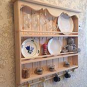 Полки ручной работы. Ярмарка Мастеров - ручная работа Модель 11 Полка для кухни в стиле прованс. Handmade.