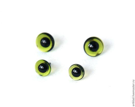 Куклы и игрушки ручной работы. Ярмарка Мастеров - ручная работа. Купить Глаза зеленые стеклянные на петле 4-16 мм (глаз глазик мишки Тедди). Handmade.