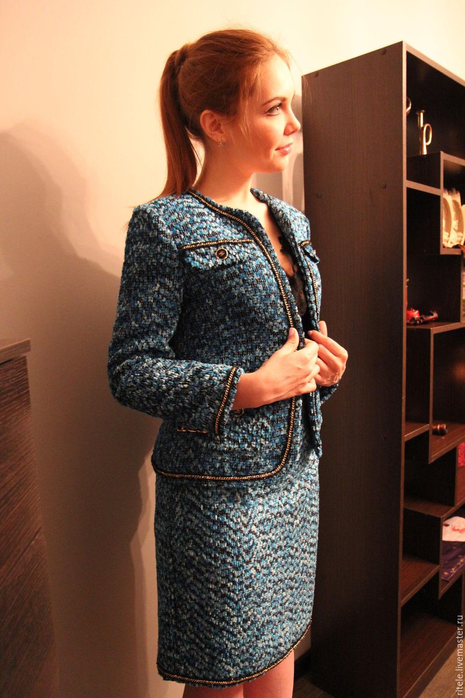 Женский твидовый костюм купить с доставкой
