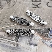 Материалы для творчества handmade. Livemaster - original item Connector 28h8h4 mm color Antique silver (2478). Handmade.