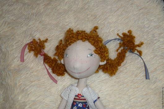 Куклы тыквоголовки ручной работы. Ярмарка Мастеров - ручная работа. Купить Рыжуля. Handmade. Комбинированный, ручная авторская работа, рыжий