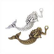handmade. Livemaster - original item Mermaid. Metal suspension 74h22h4 mm, two colors. Handmade.