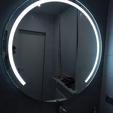 Для дома и интерьера ручной работы. Ярмарка Мастеров - ручная работа Круглое зеркало с подсветкой.. Handmade.