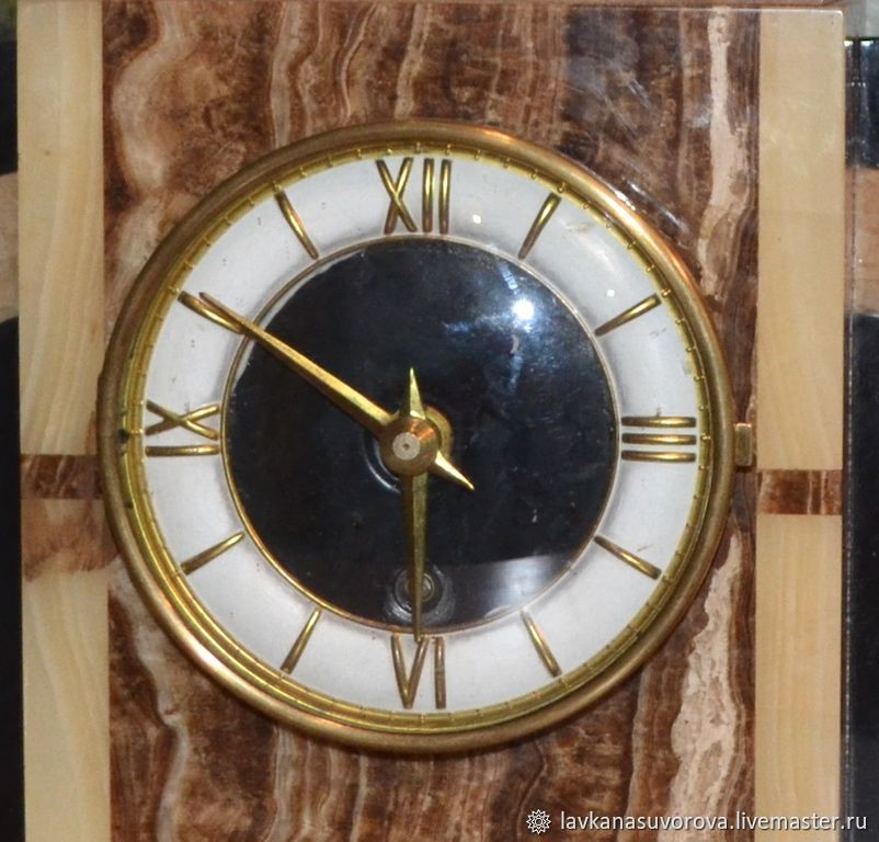 6b0330b12a LAVKANASUVOROVA (LAVKANASUVOROVA) Vintage Interior Decor. Order Table clock  Germany marble 50-ies. LAVKANASUVOROVA (LAVKANASUVOROVA ...