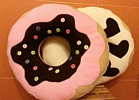 Текстиль, ковры ручной работы. Ярмарка Мастеров - ручная работа. Купить Подушка  Пончик. Handmade. Бежевый, подушка-игрушка