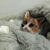 Брошь-булавка ручной работы. Ярмарка Мастеров - ручная работа Брошь Мраморная лисичка. Handmade.