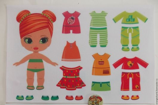 Другие виды рукоделия ручной работы. Ярмарка Мастеров - ручная работа. Купить Фетр с рисунком Куколка с одеждой ростом 15 см. Handmade.