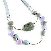 Украшения handmade. Livemaster - original item Multi-row necklace, necklace silver stones, necklace gift to a girl. Handmade.