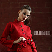 Одежда ручной работы. Ярмарка Мастеров - ручная работа Валяный жакет «Red». Handmade.