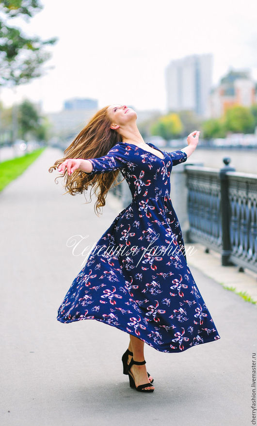 """Платья ручной работы. Ярмарка Мастеров - ручная работа. Купить Платье """"Принцесса Кейт"""". Handmade. Тёмно-синий, платье"""