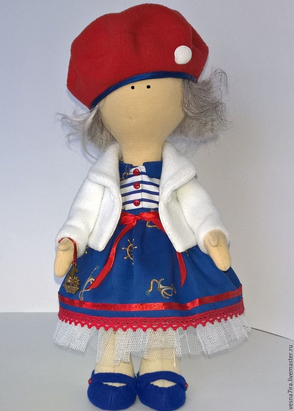 """Набор для шитья куклы """"Девочка -большеножка"""", Материалы для кукол и игрушек, Киржач, Фото №1"""