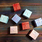 Коробки ручной работы. Ярмарка Мастеров - ручная работа Подарочная коробочка для кольца 4 х 4 см.. Handmade.