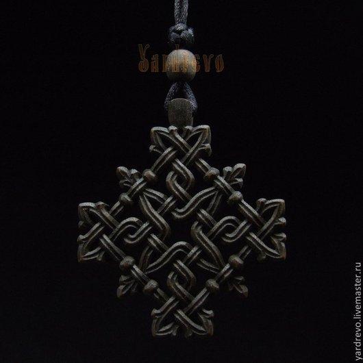 Автомобильные ручной работы. Ярмарка Мастеров - ручная работа. Купить Стильный темный крест в машину. Handmade. Черный, символ, из дерева