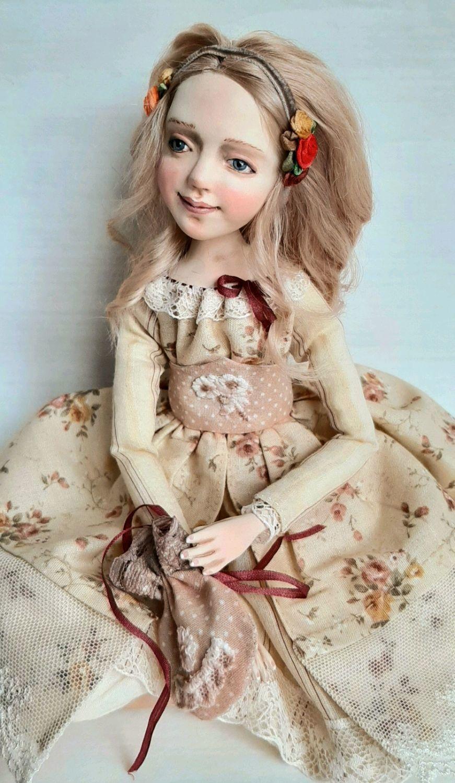 """Будуарная кукла-""""Дженни"""".Продана, Будуарная кукла, Москва,  Фото №1"""