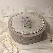 Для дома и интерьера handmade. Livemaster - original item Round jewelry box