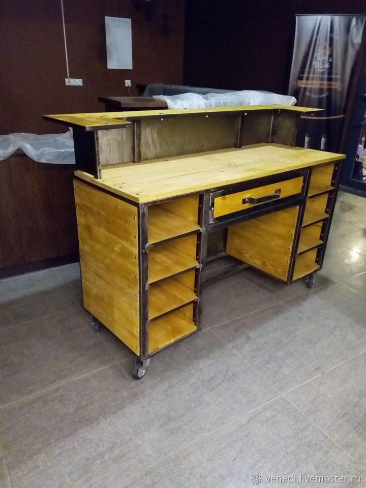 Мебель ручной работы. Ярмарка Мастеров - ручная работа. Купить Стол-бюро в стиле лофт. Handmade. Мебель для офиса, ресепшн