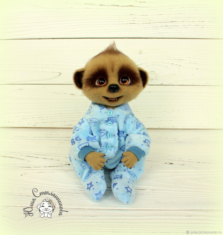 Needle felted meerkat Baby Oleg, Felted Toy, St. Petersburg,  Фото №1