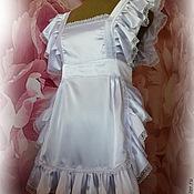 Одежда ручной работы. Ярмарка Мастеров - ручная работа белый школьный фартук. Handmade.