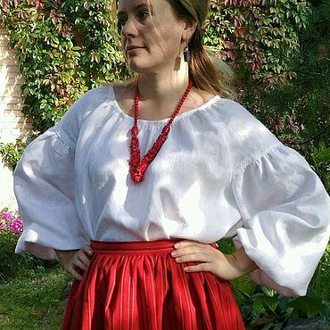 Русский стиль ручной работы. Ярмарка Мастеров - ручная работа Блуза льняная. Handmade.