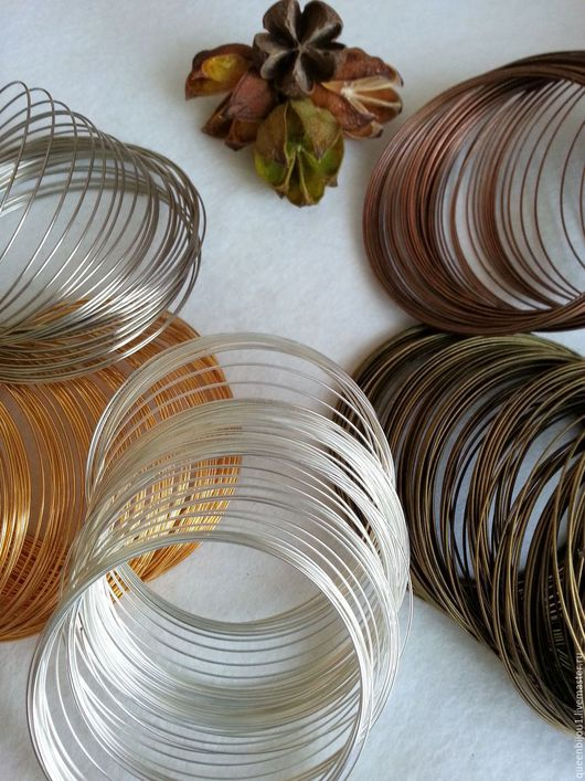 Для украшений ручной работы. Ярмарка Мастеров - ручная работа. Купить Основа для браслета 5 цветов (проволока с памятью). Handmade.