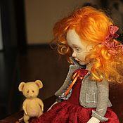 Куклы и игрушки ручной работы. Ярмарка Мастеров - ручная работа Девочка с мышонком. Коллекционная кукла. Handmade.