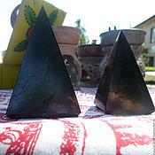 Фен-шуй и эзотерика ручной работы. Ярмарка Мастеров - ручная работа Пирамида-- шунгит-- от сглаза. Handmade.