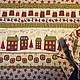 """Кухня ручной работы. Заказать Набор из салфеток и раннера """"Рождественский город"""". UloHome (Наталия и Анна). Ярмарка Мастеров. Рождественский подарок"""