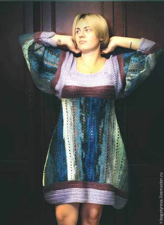 Платья ручной работы. Ярмарка Мастеров - ручная работа. Купить бохо платье на счастье. Handmade. Бохо платье, платье вязаное