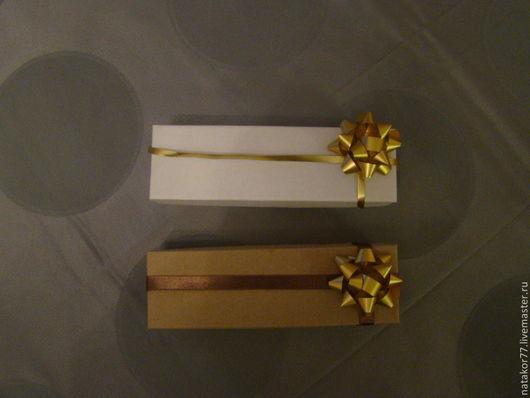 Персональные подарки ручной работы. Ярмарка Мастеров - ручная работа. Купить Коробочка для упаковки подарков. Handmade. Белый, коричневый, коробочка