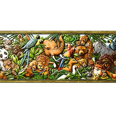Картины и панно ручной работы. Ярмарка Мастеров - ручная работа Картина в детскую комнату Джунгли зовут (резное панно животные). Handmade.