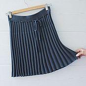 Одежда ручной работы. Ярмарка Мастеров - ручная работа Мини-Юбка гофре, в резинку, вязаная (размер XS). Handmade.