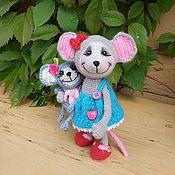 Куклы и игрушки ручной работы. Ярмарка Мастеров - ручная работа Мышка Агаша и ее дочка Маша. Handmade.