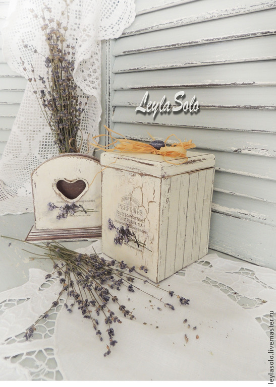 салфетница с лавандовым рисунком в наборе с любым предметом на кухню или в подарок