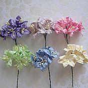 Материалы для творчества ручной работы. Ярмарка Мастеров - ручная работа 6 цветов Лилии для скрапбукинга ч. 2. Handmade.