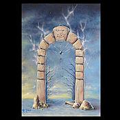 """Картины и панно ручной работы. Ярмарка Мастеров - ручная работа Коллекционная  картина """"Двери, которых нет 131: Врата забвения"""". Handmade."""