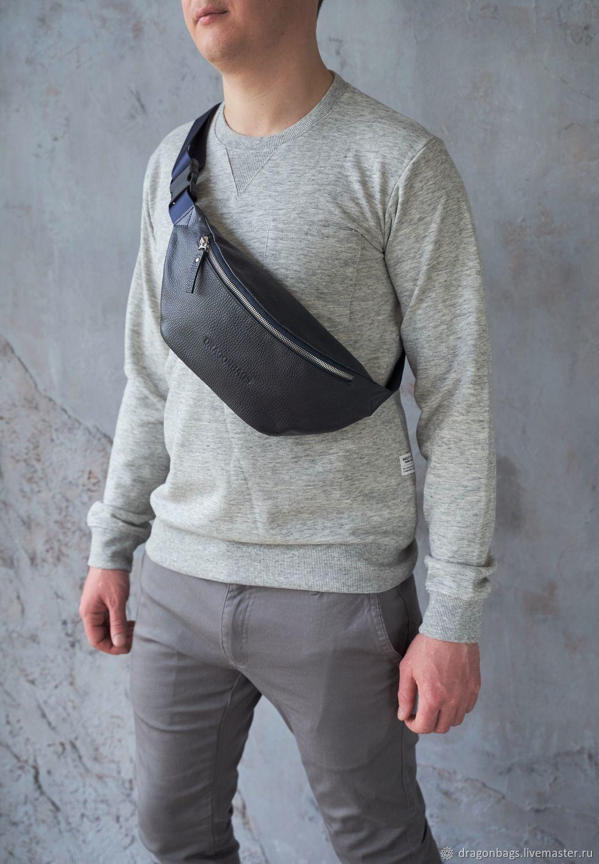 Men's waist bag 'Foster' (Dark blue), Waist Bag, Yaroslavl,  Фото №1