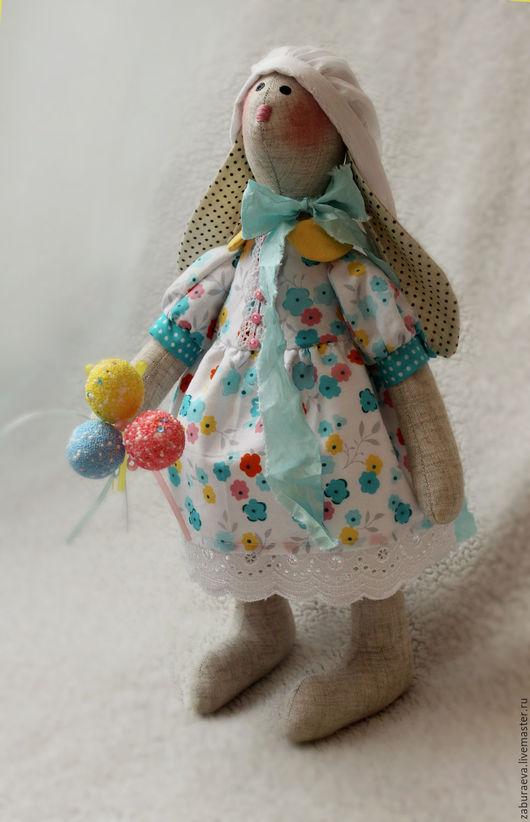 Куклы Тильды ручной работы. Ярмарка Мастеров - ручная работа. Купить пасхальная зайка. Handmade. Комбинированный, Пасхальный кролик